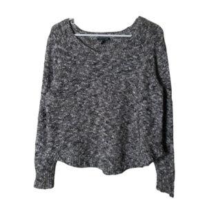 Eileen fisher brown heathered cotton linen sweater
